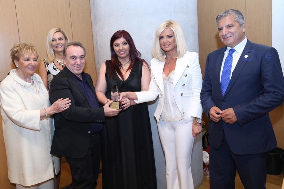 Honorary award at the Acropolis Museum